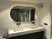 Ovale spiegel met LED-verlichting
